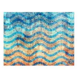Azul psicadélico do divertimento e teste padrão de cartão postal