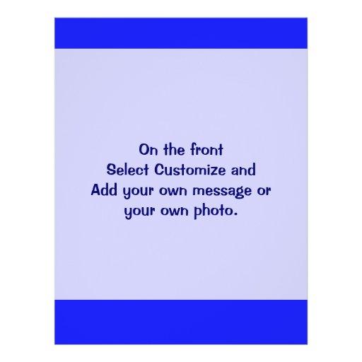azul simples panfletos coloridos