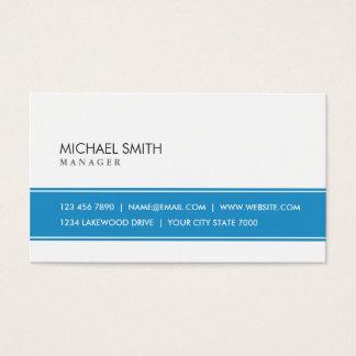 Azul simples liso elegante e branco profissionais cartão de visitas