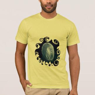 Azul translúcido brilhante das medusa t-shirt