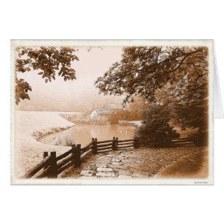 Azul velho Ridge do Va do moinho de Mabry Cartão Comemorativo