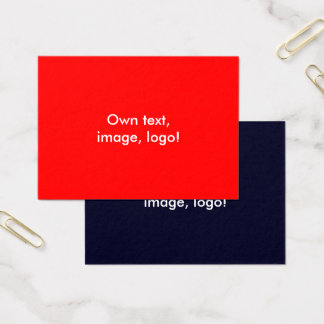 Azul Vermelho-Escuro dos cartões de visitas