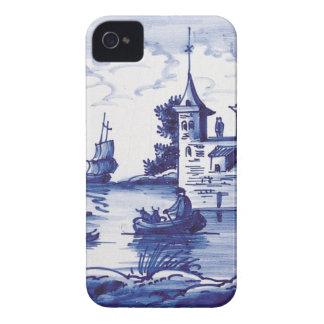 Azulejo azul tradicional holandês capa de iPhone 4 Case-Mate