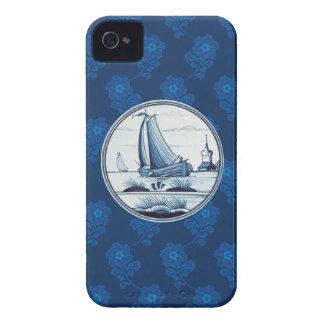 Azulejo azul tradicional holandês capa iPhone 4 Case-Mate