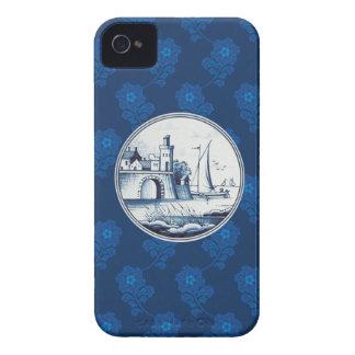 Azulejo azul tradicional holandês iPhone 4 capa