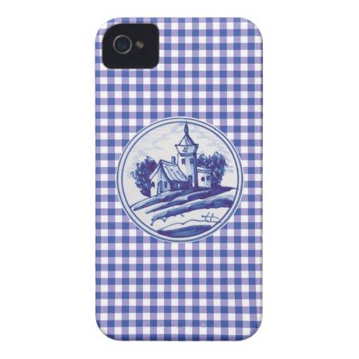 Azulejo azul tradicional holandês capas iPhone 4 Case-Mate