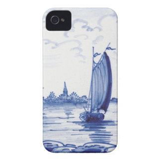Azulejo azul tradicional holandês iPhone 4 capas