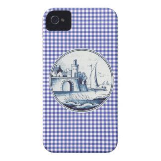 Azulejo azul tradicional holandês capas iPhone 4