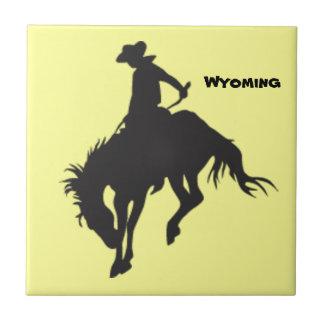 Azulejo Bucking do cavalo de Wyoming