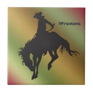 Azulejo Bucking do cavalo do inclinação de Wyoming