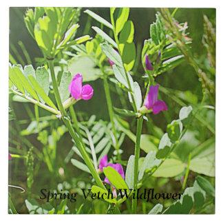 Azulejo cerâmico da foto do Wildflower da ervilhac