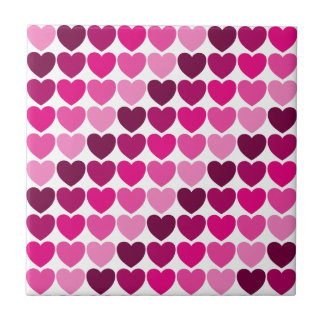Azulejo cor-de-rosa dos corações
