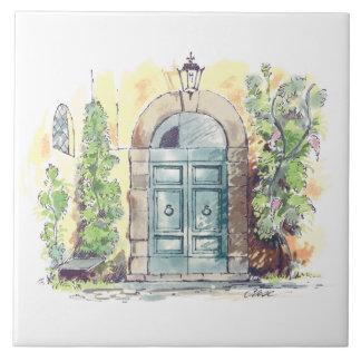 Azulejo da porta da casa de campo
