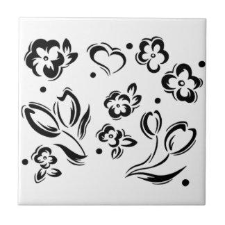 Azulejo das flores & dos corações
