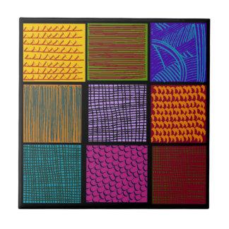 Azulejo De Cerâmica A arte popular dos verificadores Multi-coloriu o