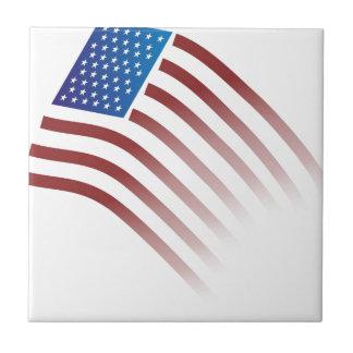 Azulejo De Cerâmica A bandeira americana desvanece-se