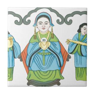 Azulejo De Cerâmica A deusa que cura doenças de olho