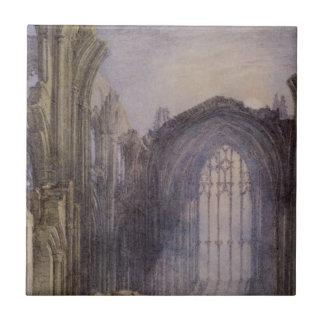 Azulejo De Cerâmica Abadia da melrose por William Turner