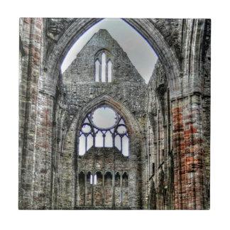 Azulejo De Cerâmica Abadia de Tintern, monastério Cistercian, Wales