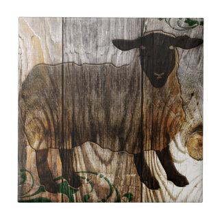Azulejo De Cerâmica ano dos carneiros de madeira
