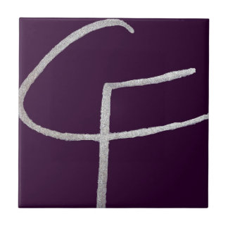 Azulejo De Cerâmica C & F iniciais