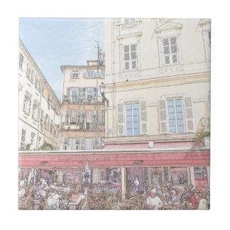 Azulejo De Cerâmica Café italiano do passeio