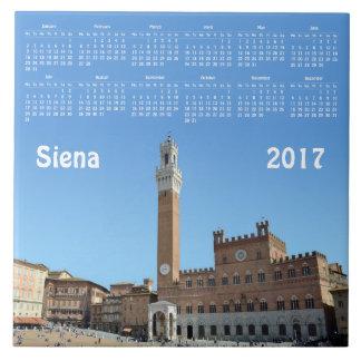 Azulejo De Cerâmica Calendário de Siena, Italia 2017