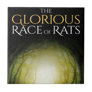 """Azulejo De Cerâmica Capa do livro """"da raça gloriosa dos ratos """""""