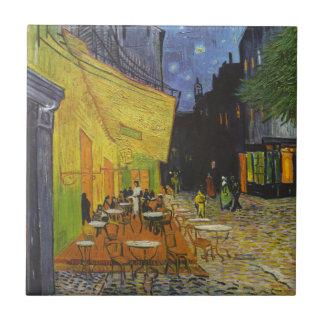 Azulejo De Cerâmica Cargo-Impressionista do terraço do café de Van