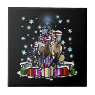 Azulejo De Cerâmica Cavalos com estilos do Natal