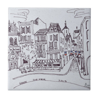 Azulejo De Cerâmica Cena | Grasse do museu & da rua do perfume, France