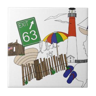 Azulejo De Cerâmica Colagem da cor preliminar do amor de LBI