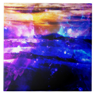 Azulejo De Cerâmica Crepúsculo da baunilha de Amorem Amisi do anúncio