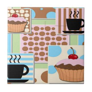 Azulejo De Cerâmica Cupcakes e café