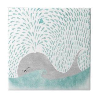 """Azulejo De Cerâmica Da """"azulejo do amor baleia """""""