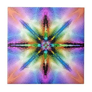 Azulejo De Cerâmica Design do pop do despeito de AOM (colorido)