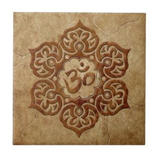 Azulejo De Cerâmica Design floral de pedra de Aum