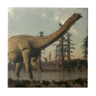 Azulejo De Cerâmica Dinossauro de Uberabatitan no lago