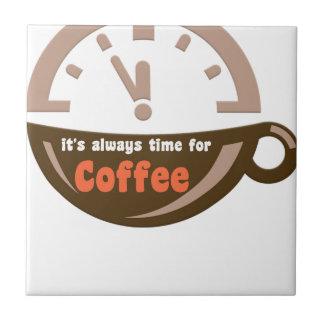 Azulejo De Cerâmica é sempre hora para a camisa do presente t do café