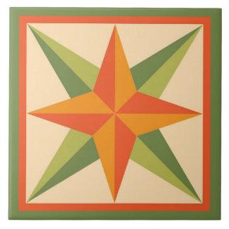 Azulejo De Cerâmica Edredão Trivet - bloco chanfrado da estrela