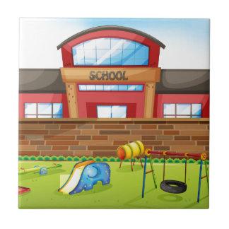 Azulejo De Cerâmica Escola