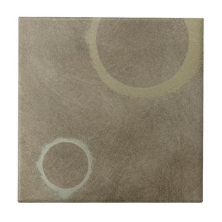 Azulejo De Cerâmica Esmalte do café turco - dois círculos