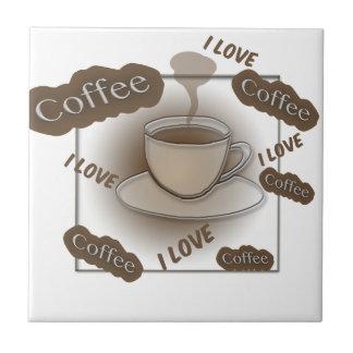 Azulejo De Cerâmica Eu amo o copo de café