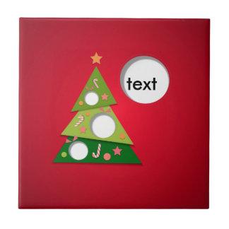Azulejo De Cerâmica Feliz Natal e newyear feliz