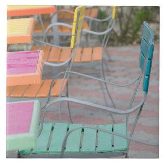 Azulejo De Cerâmica Ilhas de ABC, ARUBA, Palm Beach: Café colorido