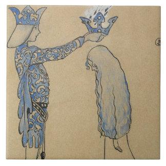 Azulejo De Cerâmica John Bauer - pnha então o príncipe uma coroa do