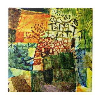 Azulejo De Cerâmica Klee - relembrança de um jardim