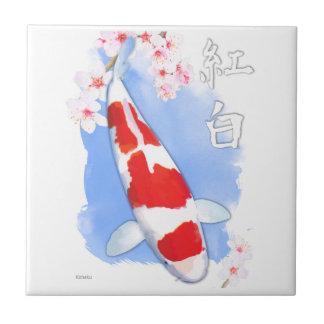 Azulejo De Cerâmica Kohaku Koi