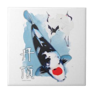Azulejo De Cerâmica Koi de Tancho