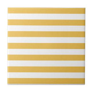 Azulejo De Cerâmica Listras horizontais largas amarelas e brancas na